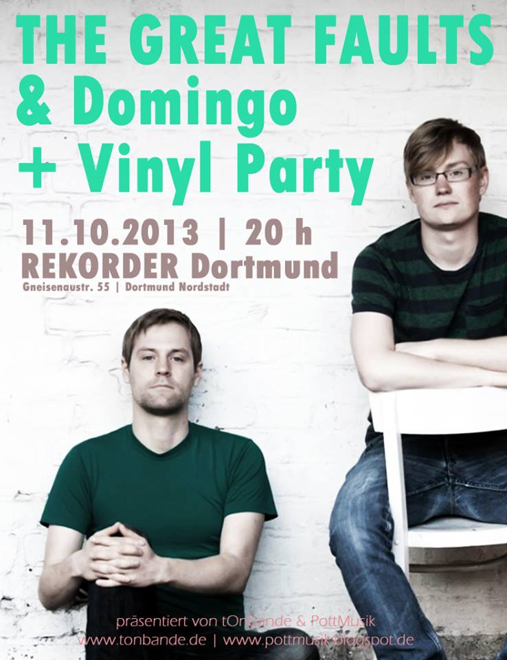Konzert: Great Faults & Domingo + Party