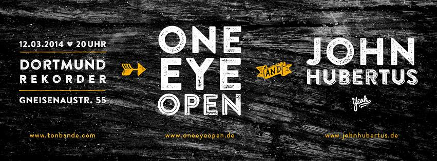 Konzert: one eye open & john hubertus