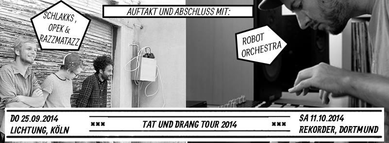 Konzert: Schlakks (Tourabschluss) + Robot Orchestra I Aftershow: Ringelbeats mit Anbassen mit Nowakke + Pitchy & Scratchy