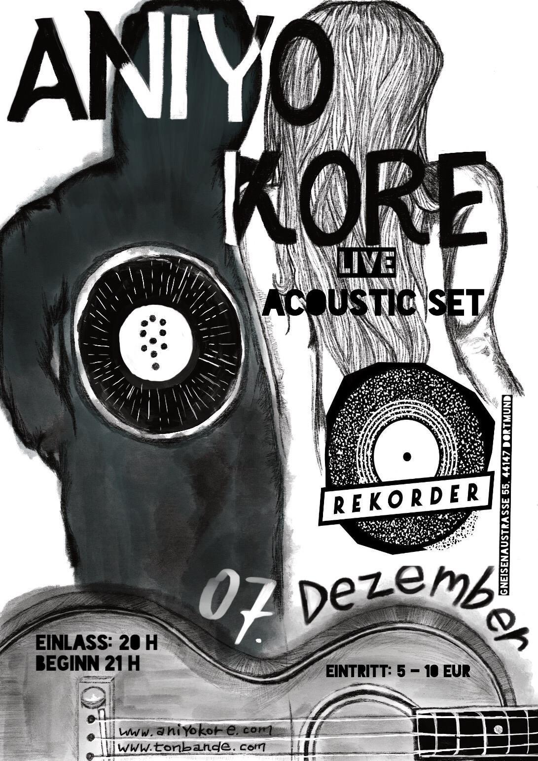 Konzert: aniYo kore (acoustic show)