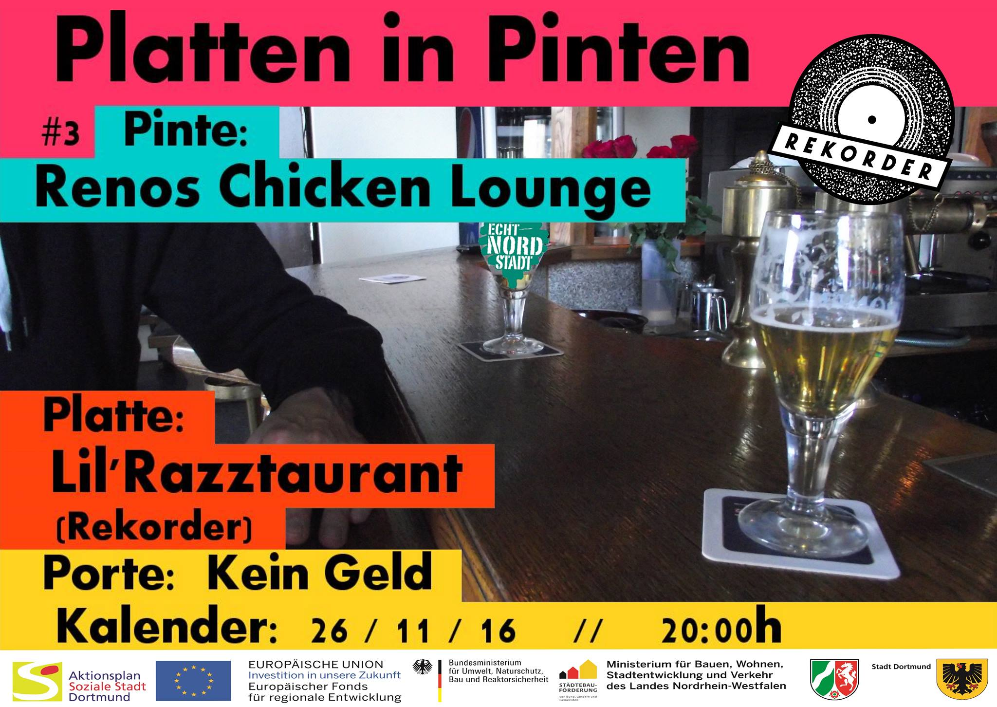 Platten in Pinten: Renos Lounge (Jannis Schloss) // mit Razzle