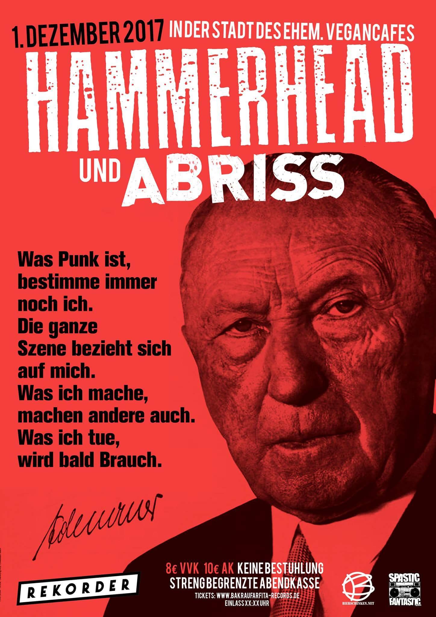 Konzert: Hammerhead & Abriss