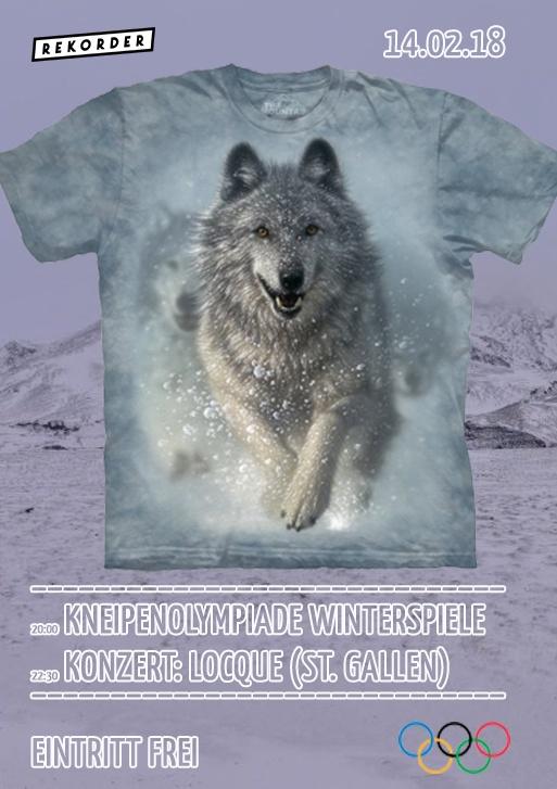 Kneipenolympiade Winterspiele & Konzert: Locque (St. Gallen)