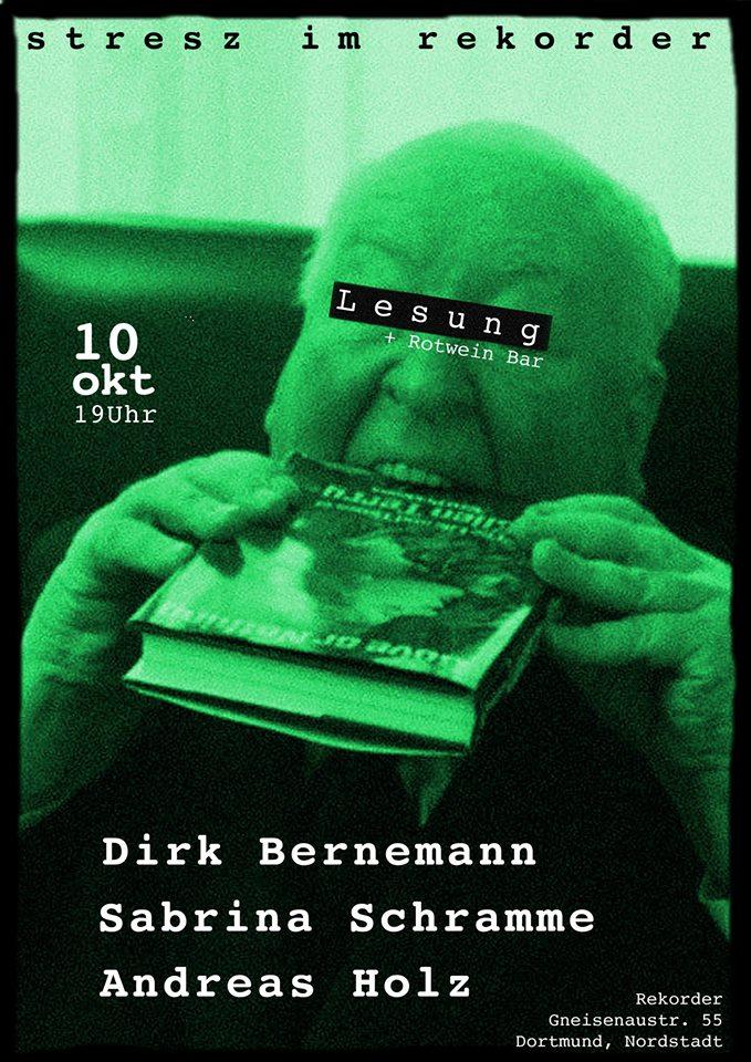 Stresz im Rekorder Lesung: Dirk Bernemann, Sabrina Schramme, Andi Holz
