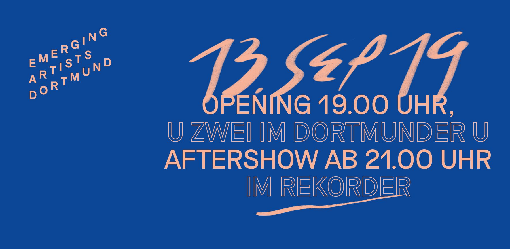 Eröffnung und Aftershowparty: Emerging Artists Dortmund 2019
