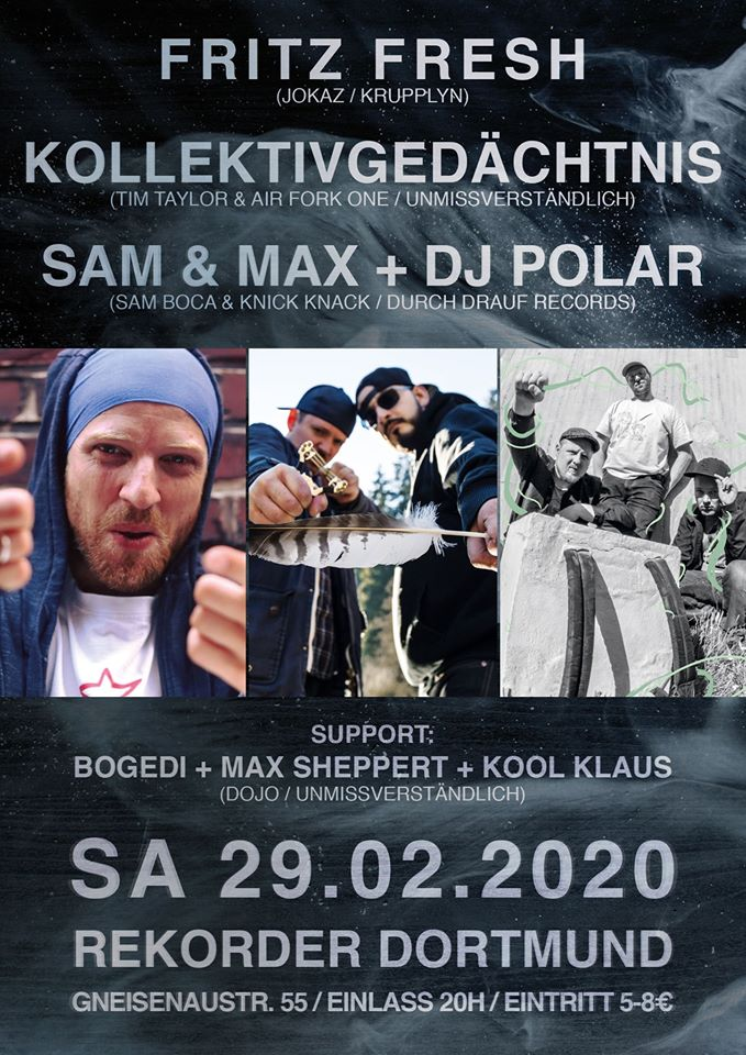 Fritz Fresh / Kollektivgedächtnis / Sam & Max + Dj Polar